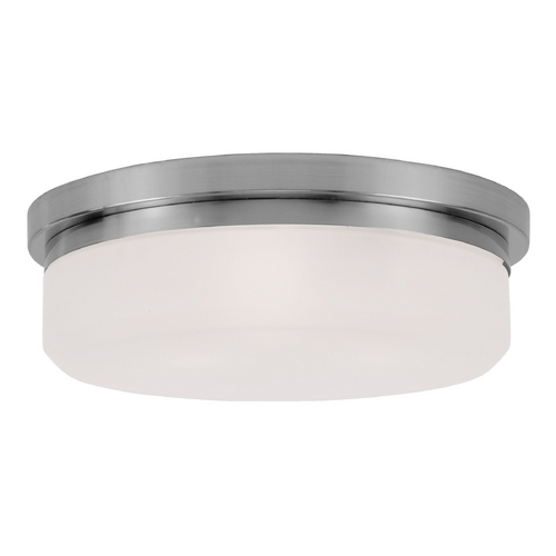 Livex Lighting Livex Lighting Isis Brushed Nickel Flushmount Light 7393-91