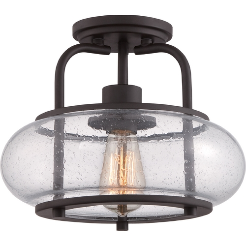 Quoizel Lighting Quoizel Trilogy Old Bronze Semi-Flushmount Light TRG1712OZ