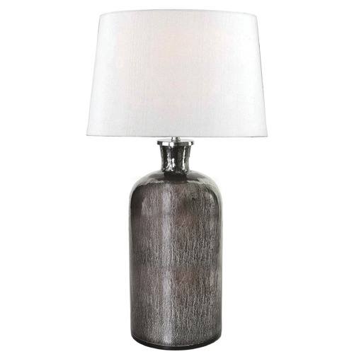 Kenroy Home Lighting Kenroy Home Lighting Asher Acid Mercury Glass Table Lamp with Drum Shade 32436AMG