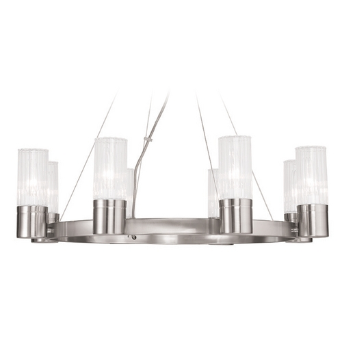 Livex Lighting Livex Lighting Midtown Brushed Nickel Chandelier 50698-91