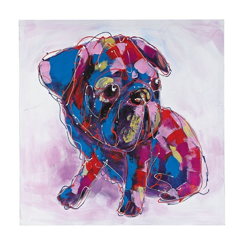 Sterling Lighting Bold Puppy I - Oversized Oil On Canvas 149-009