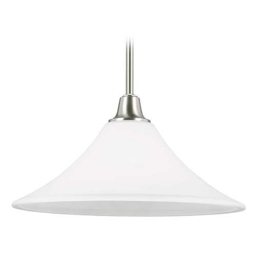Sea Gull Lighting Sea Gull Lighting Metcalf Brushed Nickel Pendant Light with Coolie Shade 6513201-962