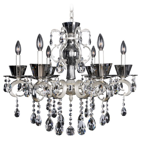 Allegri Lighting Allegri Locatelli 6-Light Crystal Chandelier in 2-Tone Silver 10098-017-FR001