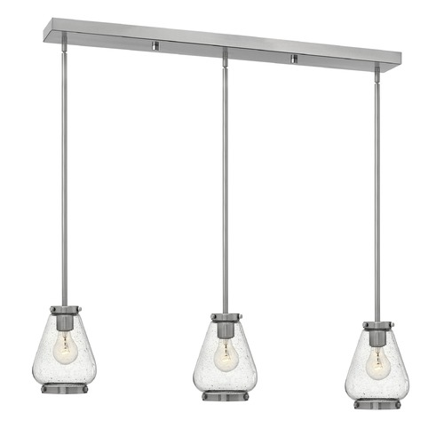 Hinkley Lighting Hinkley Lighting Finley Brushed Nickel Mini-Pendant Light with Urn Shade 3689BN