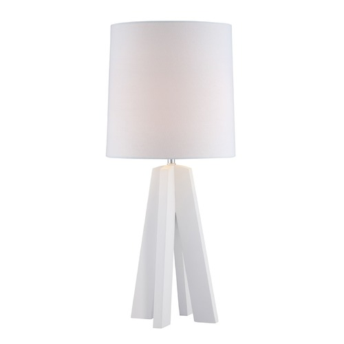 Lite Source Lighting Lite Source Kitoko White Table Lamp with Cylindrical Shade LS-22887WHT