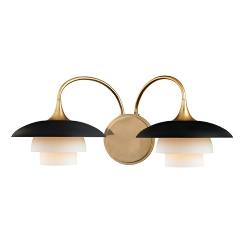 Hudson Valley Lighting Hudson Valley Lighting Barron Aged Brass Sconce 1012-AGB