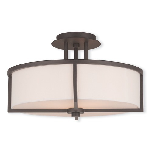 Livex Lighting Livex Lighting Wesley Bronze Semi-Flushmount Light 51074-07
