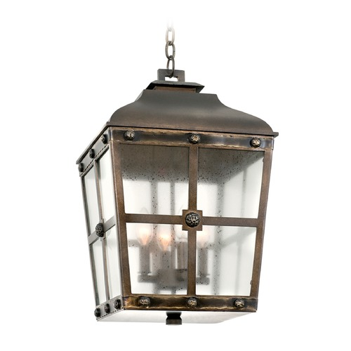 Kalco Lighting Kalco Shorecrest Aged Bronze Outdoor Hanging Light 403451AGB
