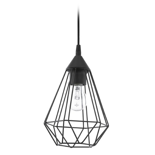 Eglo Lighting Eglo Tarbes Matte Black Mini-Pendant Light with Bowl / Dome Shade 94187A