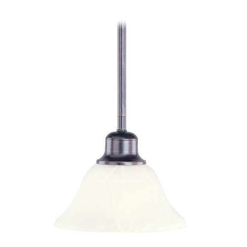 Maxim Lighting Mini-Pendant Light with Beige / Cream Glass 91068WSKB