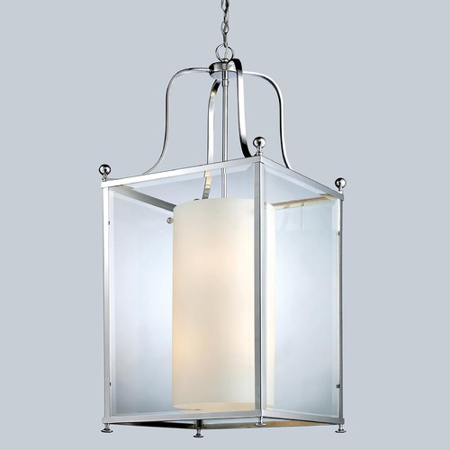 Z-Lite Z-Lite Fairview Chrome Pendant Light with Cylindrical Shade 176-8