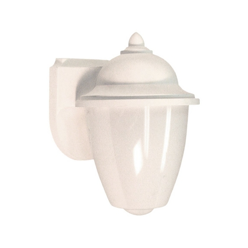 Sea Gull Lighting Outdoor Wall Light with White Glass in White Finish 89018BLE-15