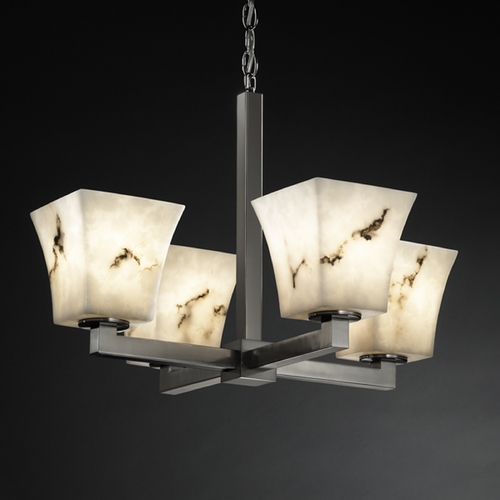 Justice Design Group Justice Design Group Lumenaria Collection Chandelier FAL-8829-40-NCKL