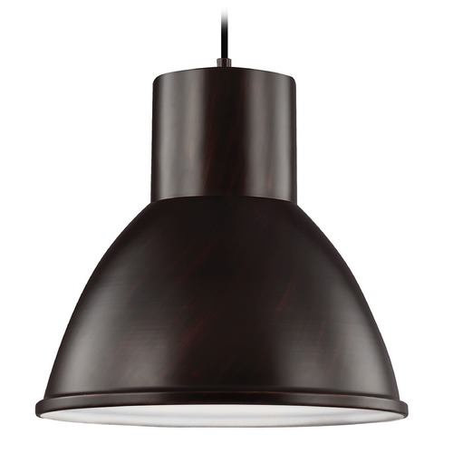 Sea Gull Lighting Sea Gull Lighting Division Street Burnt Sienna Pendant Light with Bowl / Dome Shade 6517401-710