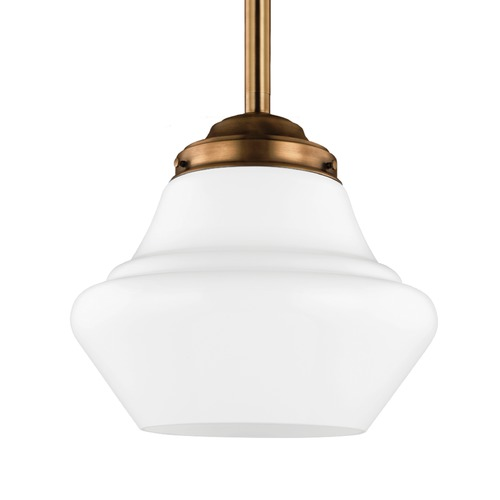 Feiss Lighting Feiss Lighting Alcott Aged Brass Pendant Light P1408AGB