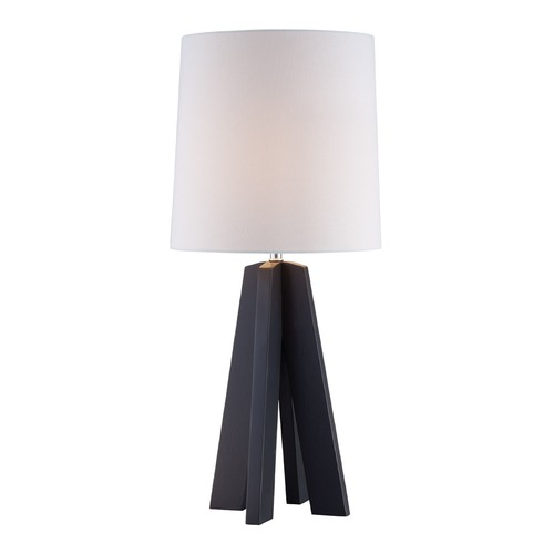 Lite Source Lighting Lite Source Kitoko Charcoal Table Lamp with Cylindrical Shade LS-22887CHARC