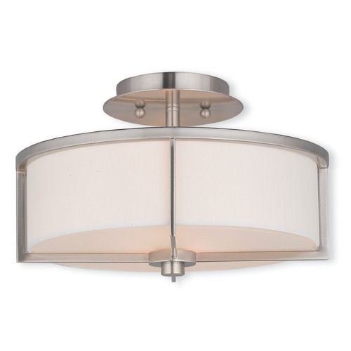 Livex Lighting Livex Lighting Wesley Brushed Nickel Semi-Flushmount Light 51073-91