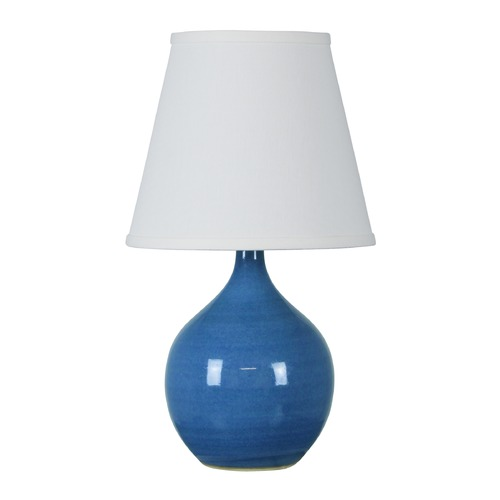 House of Troy Lighting House Of Troy Scatchard Cornflower Blue Table Lamp with Empire Shade GS50-CB