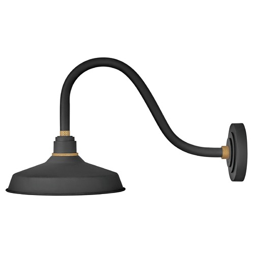 Hinkley Lighting Hinkley Lighting Foundry Textured Black / Brass Barn Light 10342TK