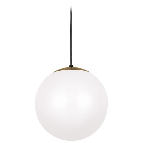 Sea Gull Lighting Sea Gull Lighting Leo - Hanging Globe Satin Bronze Pendant Light with Globe Shade 6022-848