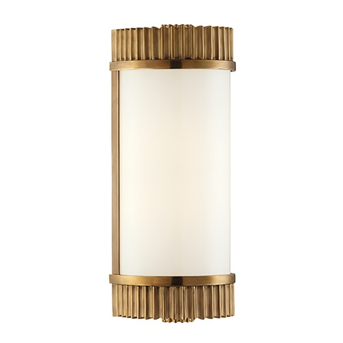 Hudson Valley Lighting Benton Aged Brass Bathroom Light - Vertical or Horizontal Mounting 561-AGB