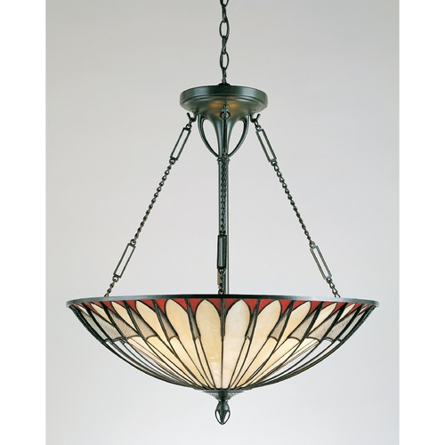 Quoizel Lighting Four-Light Tiffany Pendant TF1816VB