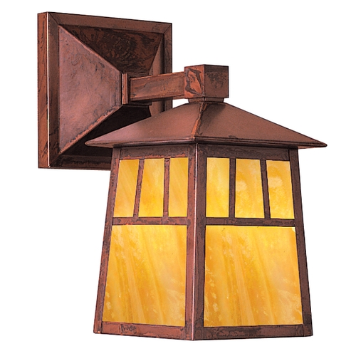 Arroyo Craftsman Lighting 10-3/8-Inch Copper Outdoor Wall Light RB-6W-RC-GW