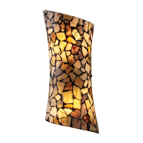Elk Lighting Sconce with Tiffany Glass in Dark Rust Finish 60016-2