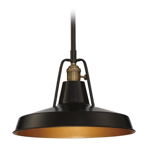 Quoizel Lighting Railway Convertible Pendant to Semi-Flush Ceiling Light RLY1512IB