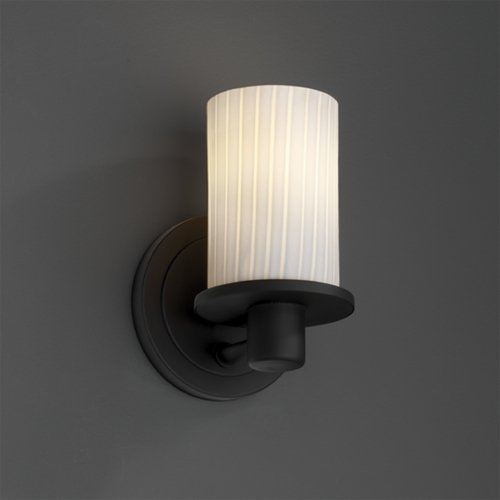 Justice Design Group Justice Design Group Fusion Collection Sconce FSN-8511-10-RBON-MBLK