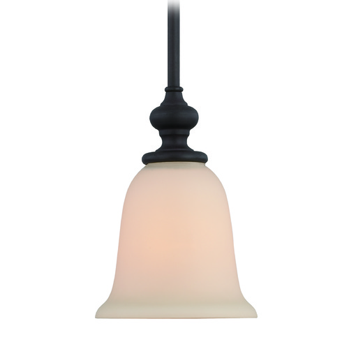 Jeremiah Lighting Jeremiah Willow Park Gothic Bronze Mini-Pendant Light with Bell Shade 28521-GB