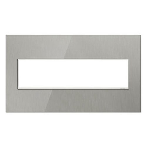 Legrand Adorne Legrand Adorne Brushed Stainless 4-Gang Switch Plate AWM4GMS4