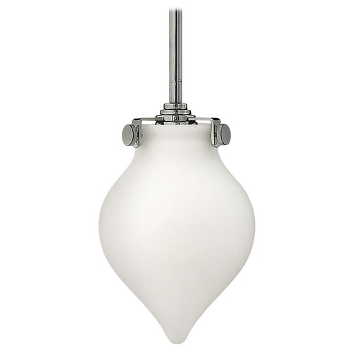 Hinkley Lighting Mini-Pendant Light with White Glass 3135CM