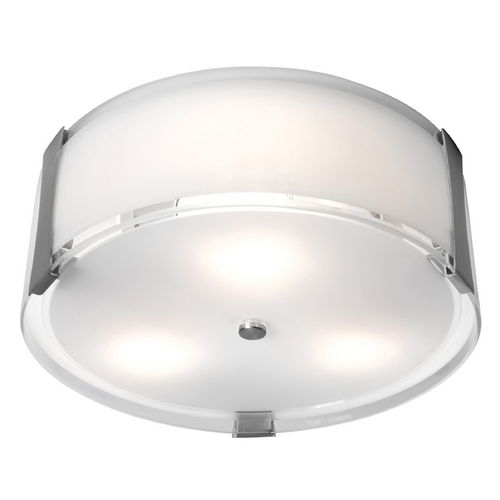 Access Lighting Access Lighting Tara Brushed Steel Flushmount Light C50120BSOPLEN1218BS
