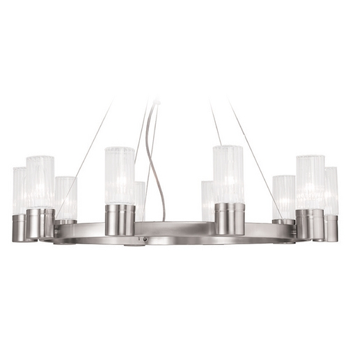 Livex Lighting Livex Lighting Midtown Brushed Nickel Chandelier 50699-91