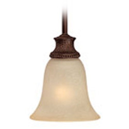 Capital Lighting Capital Lighting Hill House Burnished Bronze Mini-Pendant Light with Bell Shade 3561BB-252