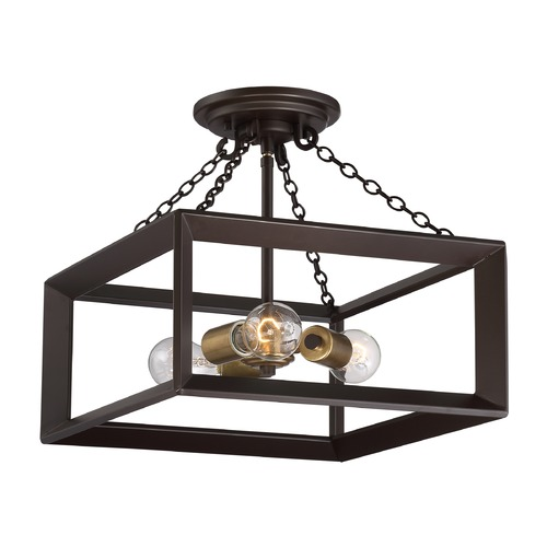 Quoizel Lighting Quoizel Lighting Brook Hall Western Bronze Semi-Flushmount Light BKH1714WT