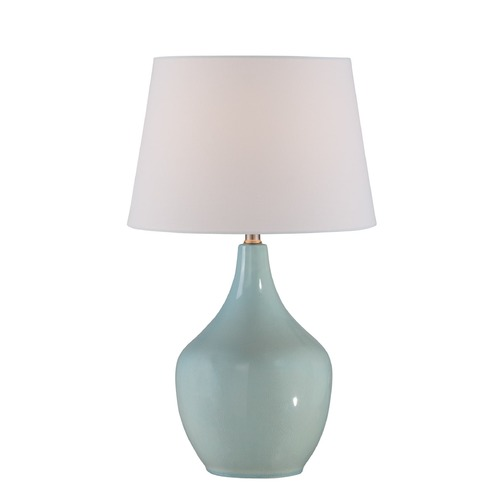 Lite Source Lighting Lite Source Valonia Light Blue Table Lamp with Empire Shade LS-22884