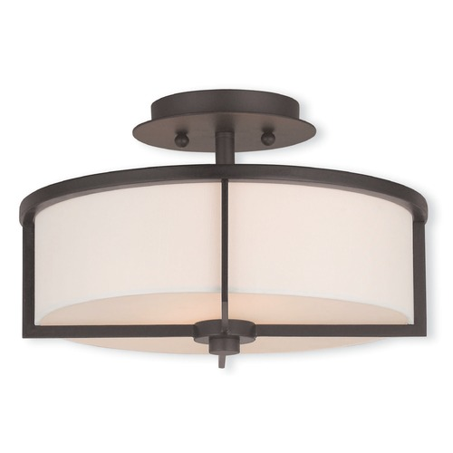 Livex Lighting Livex Lighting Wesley Bronze Semi-Flushmount Light 51073-07