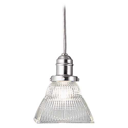 Hudson Valley Lighting Prismatic Glass Mini-Pendant Light Satin Nickel Hudson Valley Lighting 3102-SN-45C