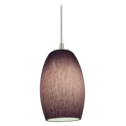 Access Lighting Access Lighting Sydney Chianti Brushed Steel Mini-Pendant with Oblong Shade 28078-1C-BS/PLC