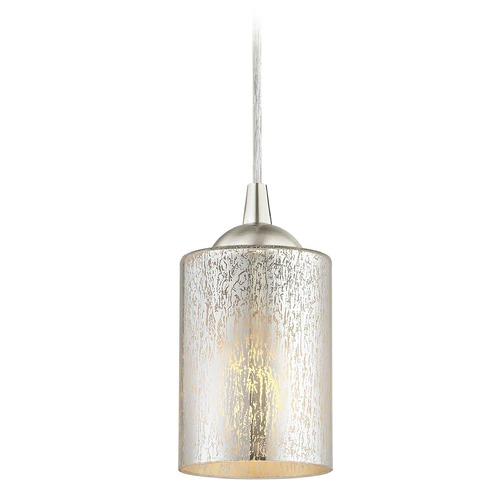 Design Classics Lighting Design Classics Gala Fuse Satin Nickel LED Mini-Pendant Light with Cylindrical Shade 682-09 GL1039C