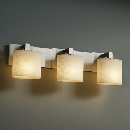 Justice Design Group Justice Design Group Clouds Collection Bathroom Light CLD-8923-30-NCKL