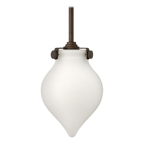 Hinkley Lighting Mini-Pendant Light with White Glass 3135OZ