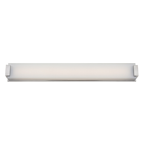 Modern Forms by WAC Lighting Polar Brushed Nickel LED Bathroom Light - Vertical or Horizontal Mounting WS-3240-BN