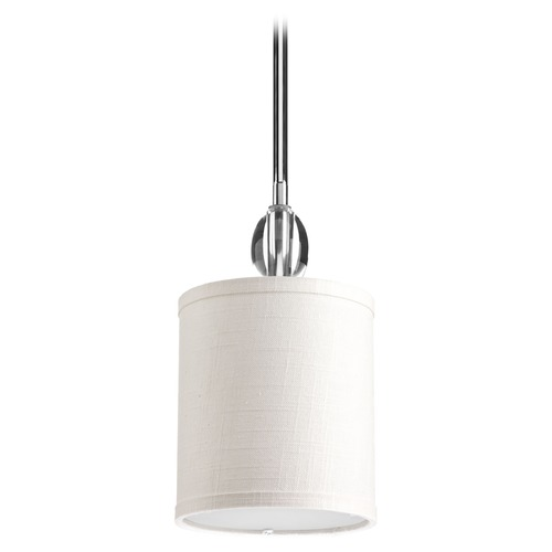 Progress Lighting Progress Lighting Status Polished Chrome Mini-Pendant Light with Cylindrical Shade P5031-15