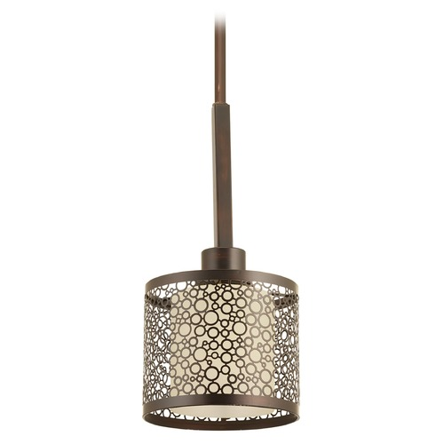 Progress Lighting Progress Lighting Mingle Antique Bronze Mini-Pendant Light with Cylindrical Shade P5038-20