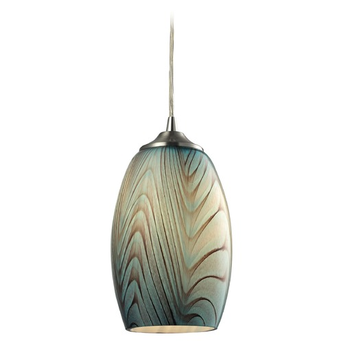 Elk Lighting Elk Lighting Tidewaters Satin Nickel Mini-Pendant Light with Bowl / Dome Shade 31620/1