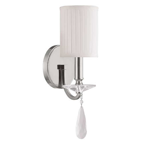 Capital Lighting Capital Lighting Alisa Polished Nickel Sconce 8026PN-573-CR
