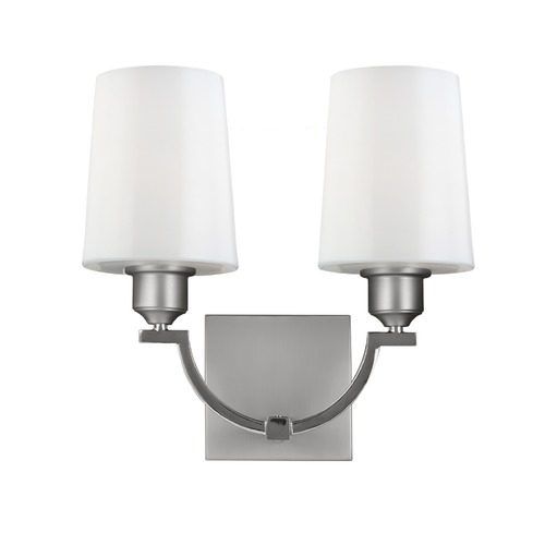 Feiss Lighting Feiss Lighting Preakness Satin Nickel / Polished Nickel Sconce WB1760SN/PN